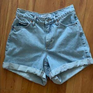 Topshop HighRise Mom Short Jeans